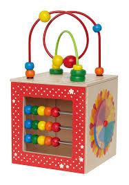 amazon com hape discovery box wooden activity center baby toy