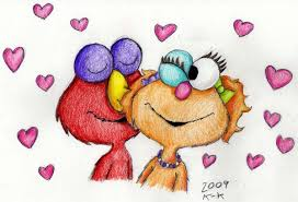 elmo valentines elmo zoe by madame kikue on deviantart