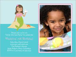 little mermaid 4x5 invitation card birthday invitations shutterfly