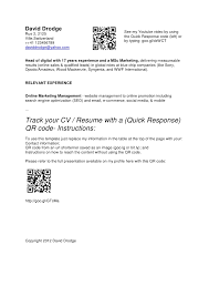 Make A Quick Resume Online by Qr Code On Resume 2702
