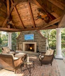 ideas for backyard patios patio traditional with brick ceiling fan
