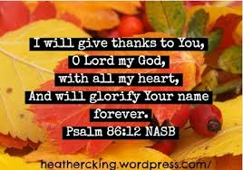giving thanks at all times