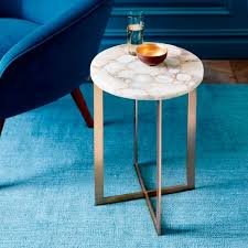 faux agate side table agate coffee table new side west elm in 1 csogospel com blue agate