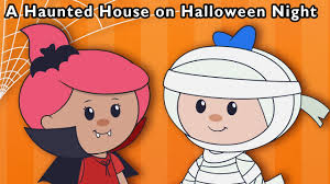 Halloween Cartoon Monsters by Monster Party A Haunted House On Halloween Night And More Baby