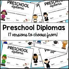 preschool diploma preschool graduation diploma