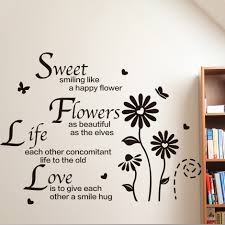 china english wall stickers shopping get quotations large can customized klimts english classroom study reading corner flower wall stickers living room bedroom