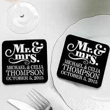 coaster favors personalized wedding favor coasters happy