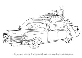 learn draw ghostbusters car ghostbusters step step