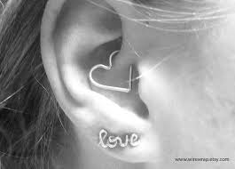 heart cartilage 30 best piercings images on jewelry piercing ideas