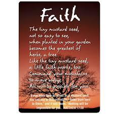 pkg 10 faith mustard seed poem christian pocket verse cards 13722