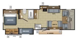 Bunkhouse 5th Wheel Floor Plans by Bunk Beds Coachmen Leprechaun Floor Plans Class C Motorhome With