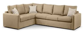 athina 2 piece right facing queen sofa bed sectional mushroom