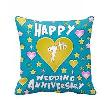 7th wedding anniversary gifts 7th wedding anniversary gift printed cushion 12 inch x 12 inch