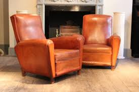 Leather Club Chair For Sale Chair Vintage French Leather Club Chairs 1950s Set Of 2 For Sale