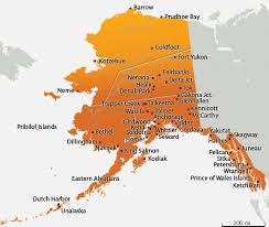 alaska major cities map map of alaska cities and towns