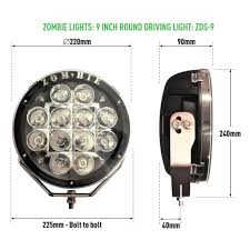 round led driving lights zds 9 9 inch round led driving light 1 pair 529 zombie lights
