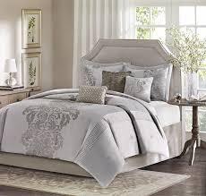 amazon com madison park novak 7 piece jacquard comforter set