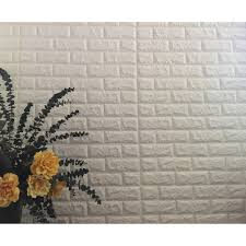 peel u0026 stick 3d wall panels white 3d brick wallpaper 2 6 u0027 x 2 3 u0027