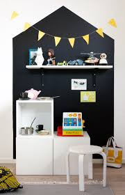 Chalkboard Kitchen Wall Ideas Painted House On The Wall And Shelf Above Play Kitchen So Cute