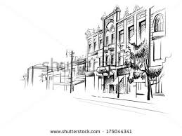 a street and sketch lightness stock images royalty free images