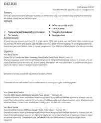 Resume Livecareer Com 42 Teacher Resume Formats