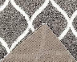 Shaggy Area Rugs Gray Moroccan Trellis Contemporary Area Rugs 5x8 7x10