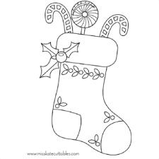 free christmas stocking coloring model sku