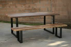 reclaimed wood table with metal legs reclaimed wood and metal furniture design ideas gallery including