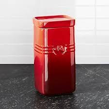 red kitchen canisters red kitchen canisters crate and barrel