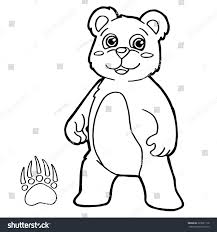 bear paw print coloring page vector stock vector 323281118