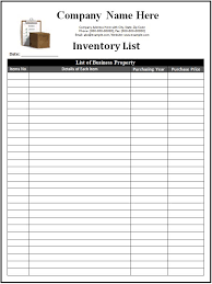 Simple Inventory Sheet Template Parts Inventory Spreadsheet Template