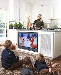 tv in kitchen ideas a 1920s tudor decorated for christmas tvs kitchens and traditional