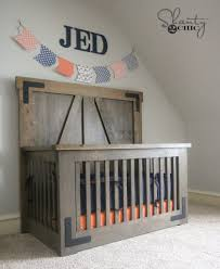 Baby Crib Blueprints by Rustic Baby Crib Diy Cribs Decoration