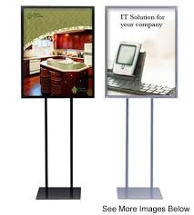 Indoor Sign Display 2 Sign Holder 22 X 28 Display Pedestal Black Stand