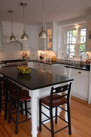 walnut wood black yardley door small kitchen island with seating