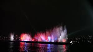 laser light show miami night light miami downtown bridge panorama 4k time lapse florida usa