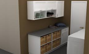 Lowes Laundry Room Storage Cabinets by Laundry Room Storage Cabinets With Doors And Clothes Rod