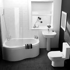 small black and white bathrooms ideas black bathtub made of concrete material black and white bathroom