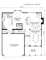 front base modelone story house plans with garage on side small