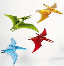 large flying pteranodons hanging dinosaur gliders