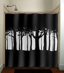 Kids Fabric Shower Curtain - tree woods forest shower curtain bathroom decor fabric kids