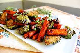 giving thanks for balsamic glazed roasted vegetables from the