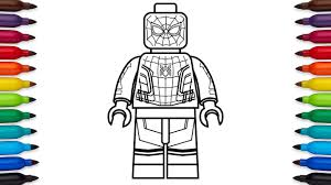 how to draw lego spider man homecoming marvel super heroes