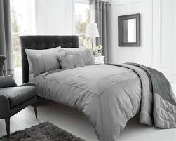 silver grey stylish textured faux silk duvet cover luxury