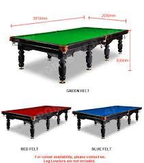 Red Felt Pool Table 12ft Luxury Green Slate Pool Table