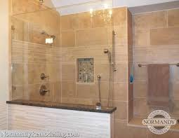 Showers Without Glass Doors Tile Showers Without Glass Doors Shower Doors