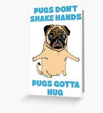 pug greeting cards redbubble