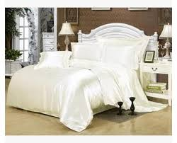 White Silk Bedding Sets White Silk Bedding Set Satin California King Size