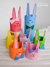 Easter Decorations For The Office by Cardboard Tube Bunny Rabbit Family An Cute Easter Craft Kids Will