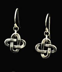 original earrings silver dangle mvskoke knot earrings dime size kenneth johnson studio
